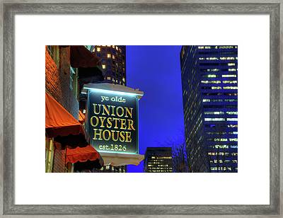Framed Print featuring the photograph The Union Oyster House - Boston by Joann Vitali