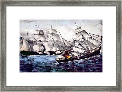 The Union Sloop Of War Kearsarge Framed Print by Everett