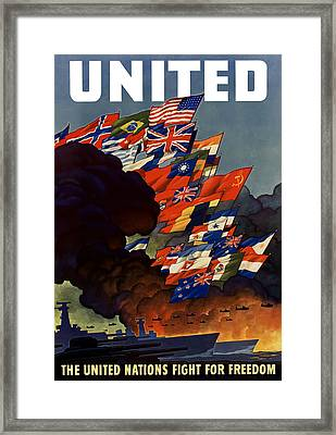 The United Nations Fight For Freedom Framed Print by War Is Hell Store