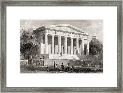 The United States Bank Philadelphia, Usa Framed Print by American School
