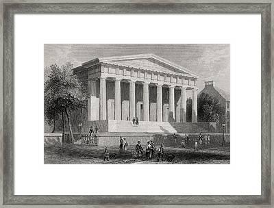 The United States Bank Philadelphia Usa Framed Print by Vintage Design Pics