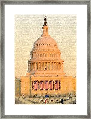 The United States Capitol Framed Print by Julie Niemela