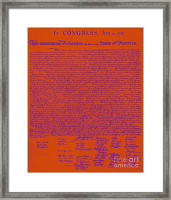 The United States Declaration Of Independence 20130215m108 Framed Print