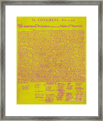 The United States Declaration Of Independence 20130215m68 Framed Print by Wingsdomain Art and Photography