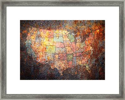 The United States Framed Print by Michael Tompsett