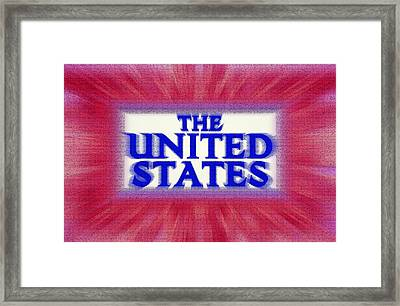 The United States Sign Framed Print by Steve Ohlsen