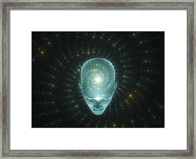 The Universal Thought  Framed Print by Harald Dastis