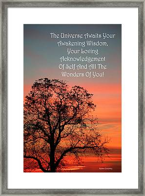 The Universe Awaits Framed Print by Robin Coventry