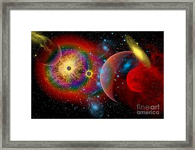 The Universe In A Perpetual State Framed Print by Mark Stevenson