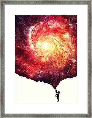 The Universe In A Soap Bubble Framed Print by Philipp Rietz