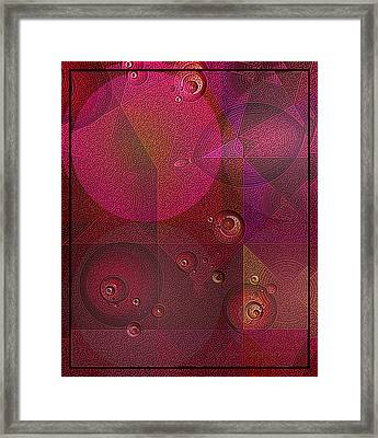 The Universe Of Purple Framed Print