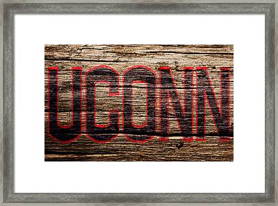 The University Of Connecticut 1a Framed Print