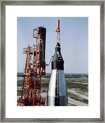 The Unmanned Mercury-atlas Capsule Sits Framed Print by Stocktrek Images