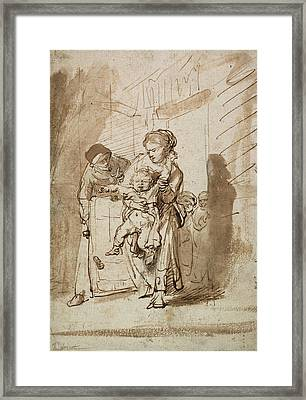 The Unruly Child Framed Print by Rembrandt