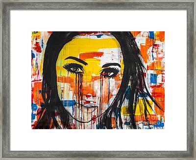 Framed Print featuring the painting The Unseen Emotions Of Her Innocence by Bruce Stanfield