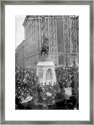 The Unveiling Of The Joan Of Arc Framed Print by Everett
