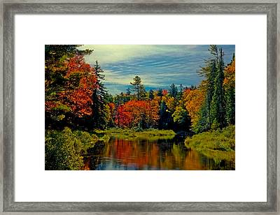 The Upper Branch Of The Moose River Framed Print