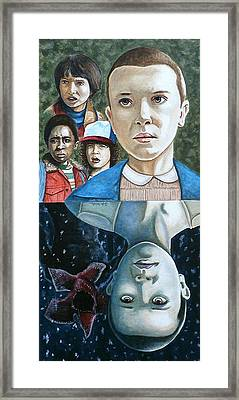 Framed Print featuring the painting The Upside Down by Al  Molina