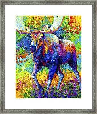 The Urge To Merge - Bull Moose Framed Print