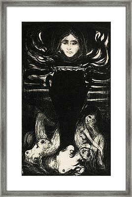 The Urn Framed Print by Edvard Munch