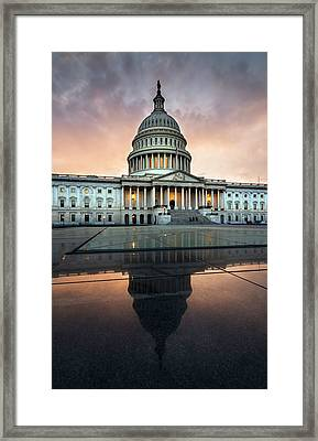The Us Capital Framed Print