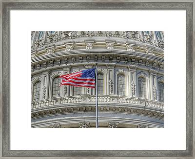 The Us Capitol Building - Washington D.c. Framed Print by Marianna Mills