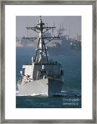 The U.s. Guided Missile Destroyer Uss Framed Print by Stocktrek Images