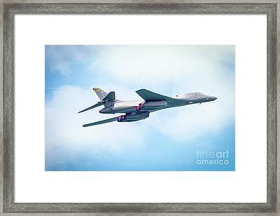 The Usaf Rockwell B-1 Lancer  Framed Print by Rene Triay Photography