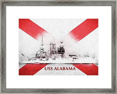 The Uss Alabama Bb-8 Framed Print by JC Findley