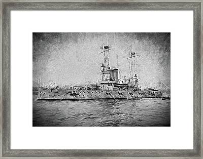 The Uss Alabama Dreadnaught Framed Print
