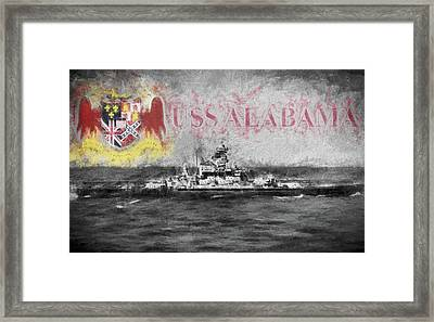 The Uss Alabama Framed Print by JC Findley