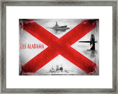 The Uss Alabamas Framed Print by JC Findley