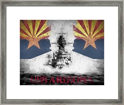 The Uss Arizona Framed Print