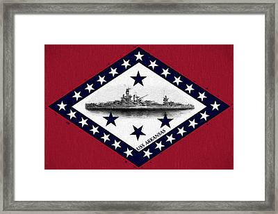 The Uss Arkansas Framed Print