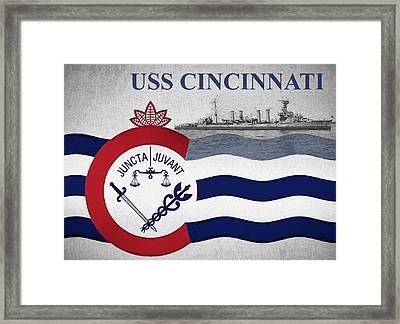 The Uss Cincinnati Framed Print