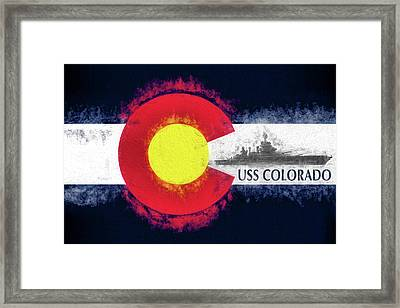 The Uss Colorado Framed Print by JC Findley