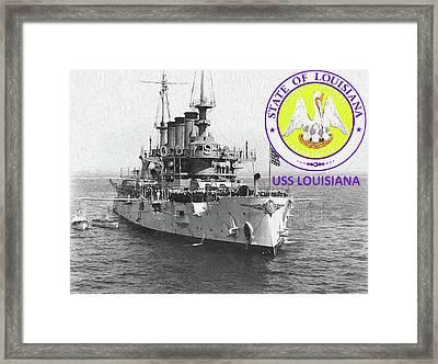 The Uss Louisiana Framed Print