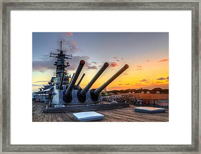 The Uss Missouri's Last Days Framed Print