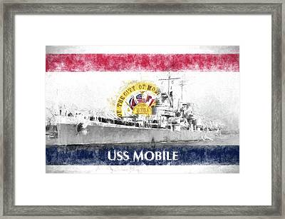 The Uss Mobile Framed Print by JC Findley