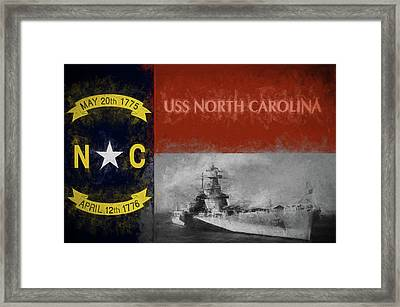 The Uss North Carolina Framed Print by JC Findley