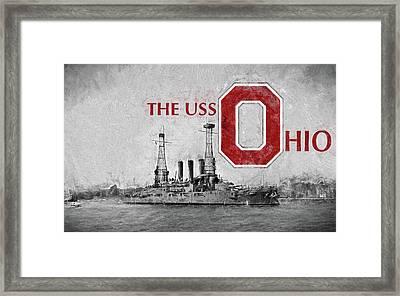 The Uss Ohio Framed Print