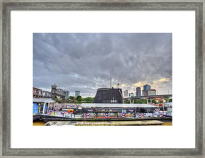 The Uss Razorback Framed Print by JC Findley