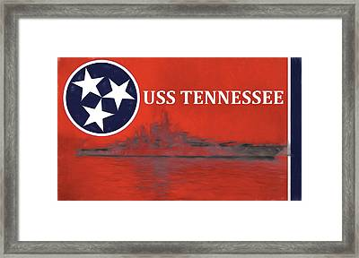 The Uss Tennessee Framed Print