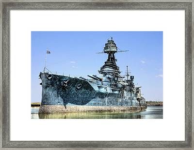 The U.s.s. Texas Framed Print by JC Findley