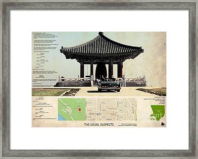 The Usual Suspects Film Location, Korean Bell Of Friendship, Angels Gate Park  Framed Print by Pablo Franchi