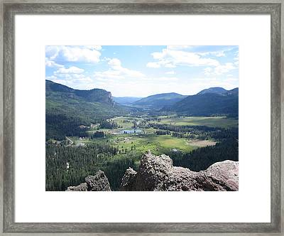The Valley Below Framed Print by CGHepburn Scenic Photos