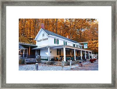 The Valley Green Inn In Autumn Framed Print by Bill Cannon