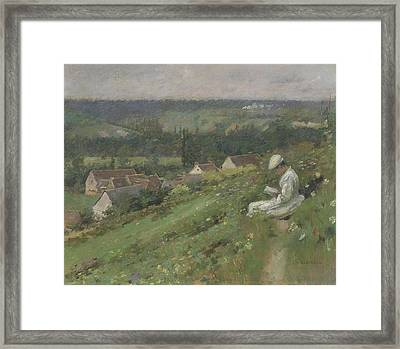 The Valley Of Arconville Framed Print by Theodore Robinson