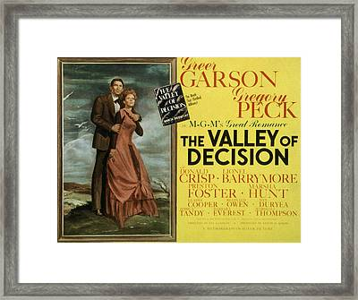 The Valley Of Decision, Gregory Peck Framed Print