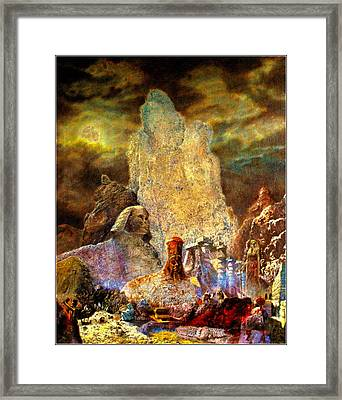 Framed Print featuring the painting The Valley Of Sphinks by Henryk Gorecki
